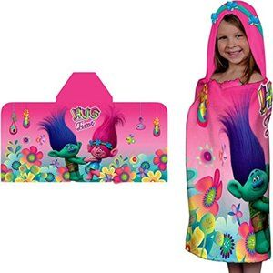 Trolls Poppy Hooded Towel Wrap Dreamworks Movie Gi